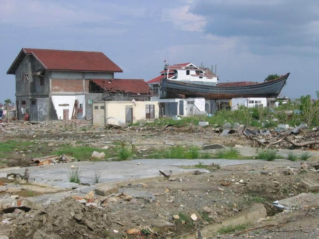 Damage from 2004 Indian Ocean Tsunami