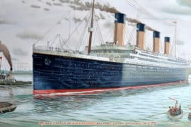 Credit: Teufelbeutel https://commons.wikimedia.org/wiki/File:Sea_Trials_of_RMS_Titanic,_2nd_of_April_1912.jpg No changes made