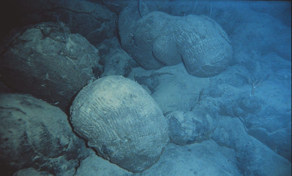 Pillow lava from an underwater/submarine volcano