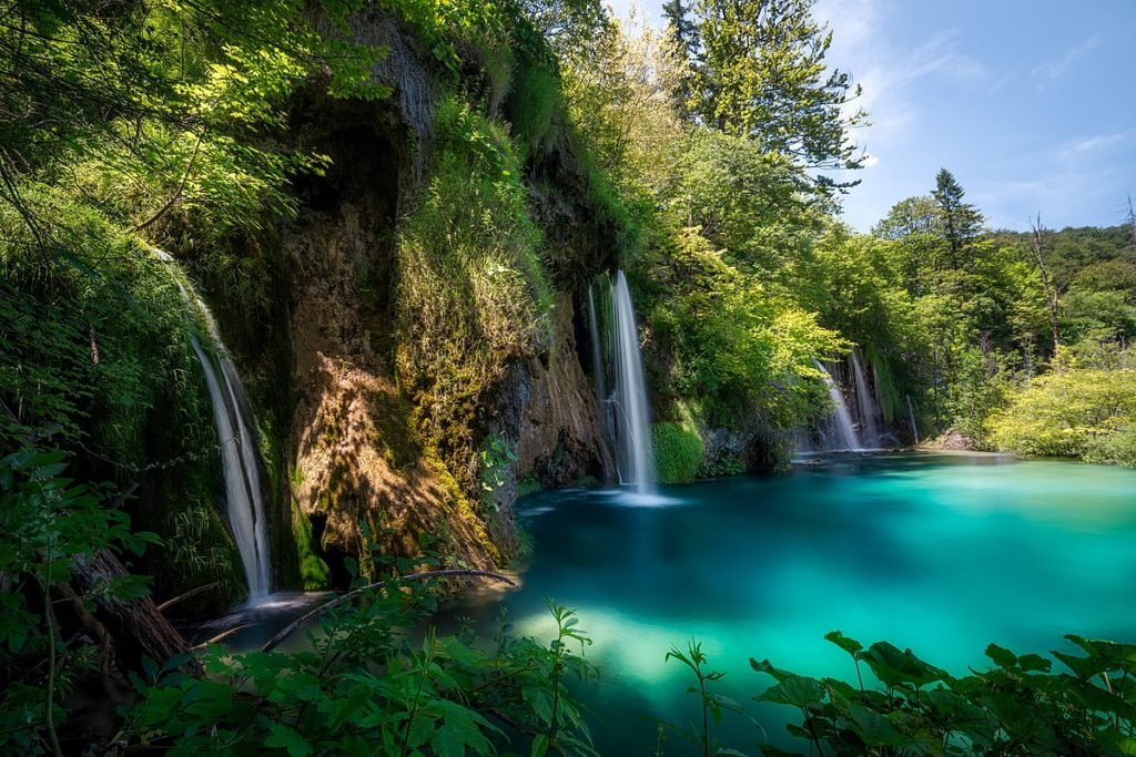 The waterfalls of the Plitvice Lakes
